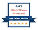 Accolade: Brett H. Pritchard, Avvo Clients' Choice Award 2016