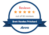 Avvo Accolade: Brett Hawkes Pritchard 4.5 stars out of 32 reviews