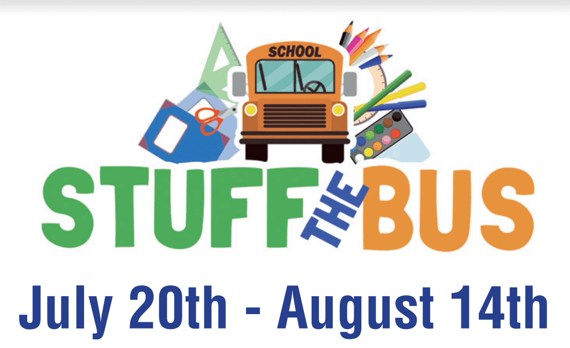 "Bell County TX ""Stuff the Bus"" event logo"